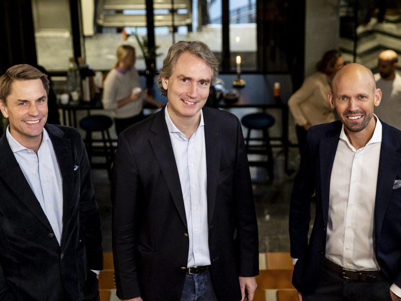 Fr.v. Jacob Torell, grundare och VD Next Step Group, Erik Selin, huvudägare och VD Balder, Joakim Garfvé, grundare och fastighetschef Next Step Group